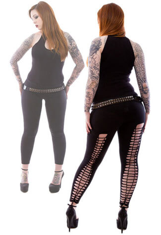 Gothic Kali Slashed Leggings