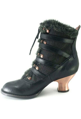 NEPHELE Black Victorian Boots