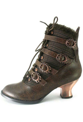 NEPHELE Brown Victorian Boots