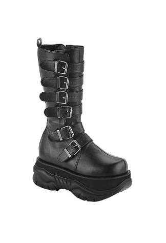 NEPTUNE-100 Black Buckle Boots