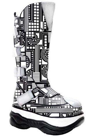 NEPTUNE-309UV Black Cyber Boots