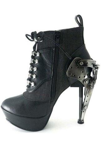 OXFORD Black Stiletto Boots