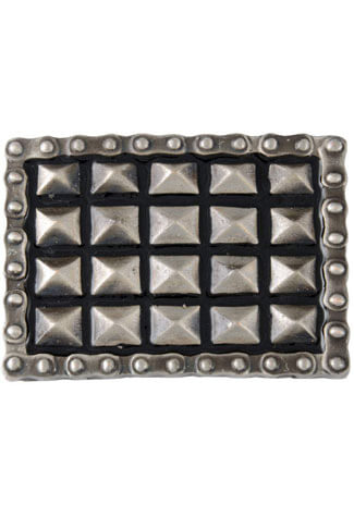 Pyramid Studs and Chain Belt Buckle