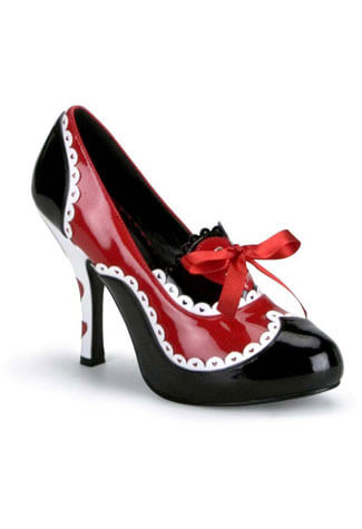QUEEN-03 Queen of Hearts Pumps
