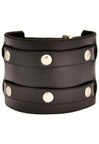 Two Row Rivet Wristband