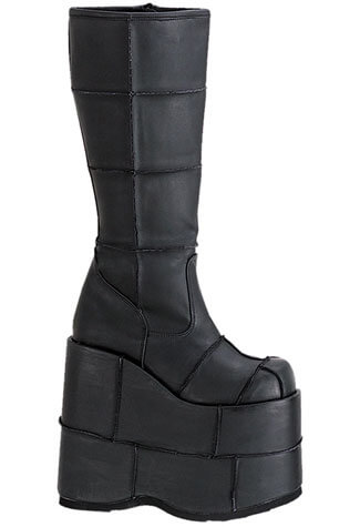 STACK-301 Black PU Platforms