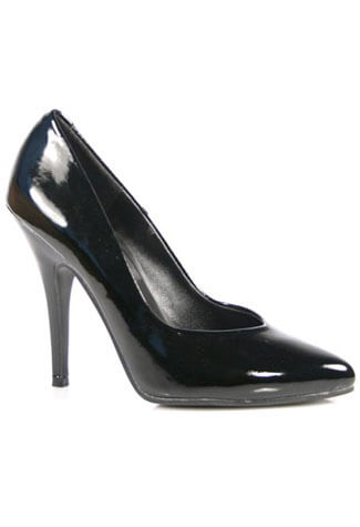 SEDUCE-420 Black Patent Pumps