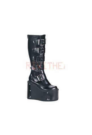 TRANSFORMER-800 Black Platform Boots