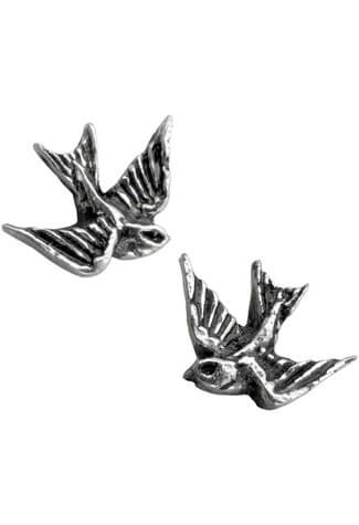 Swallow Earrings Studs