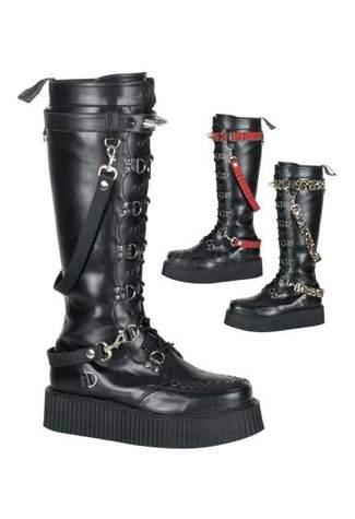 V-CREEPER-588 Black Creeper Boots