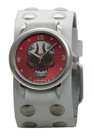 White Eyelet Skull Watch