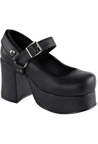 ABBEY-02 Black Vegan Shoes