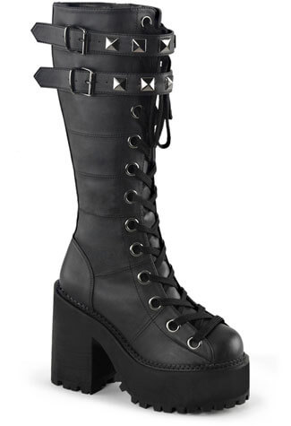 ASSAULT-202 Black Veggie Boots