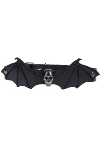 Leather Bat Wing Choker