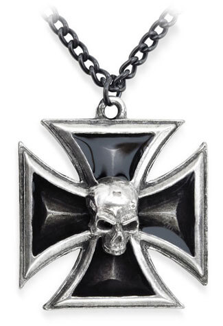 Black Knights Cross Pendant
