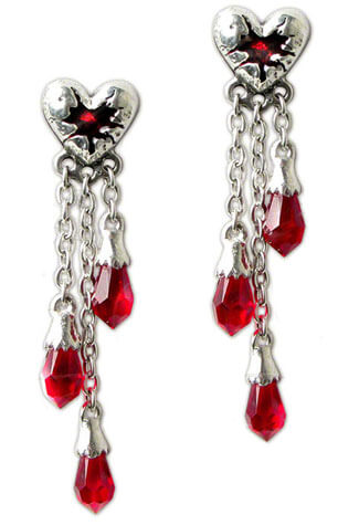 Bleeding Heart Dangle Earrings