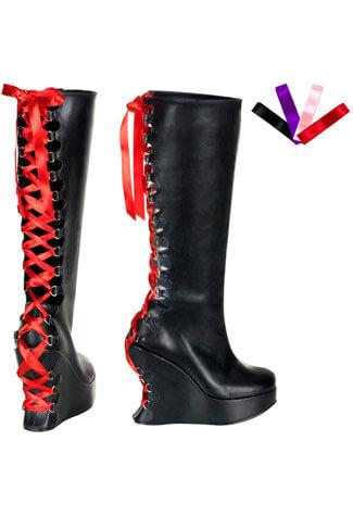 BRAVO-106 Black Corset Boots