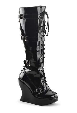 BRAVO-108 Black Gothic Boots