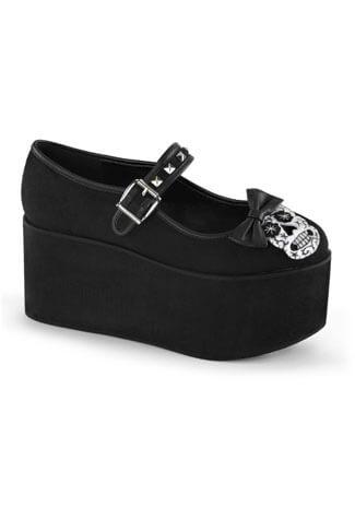 CLICK-02-3 Skull Platform Shoes