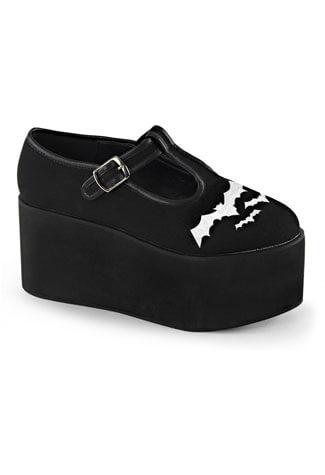 CLICK-04-2 Bat Platform Shoes