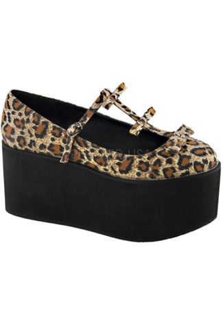 CLICK-08 Leopard Platform Shoes