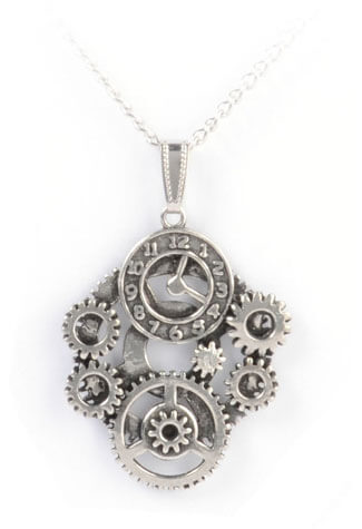Clockwork Steam Pendant Necklace