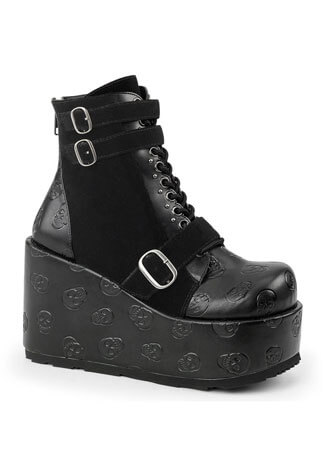 Demonia CONCORD-55 Skull Platform Boots