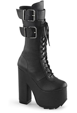 CRAMPS-202 Black Vegan Boots