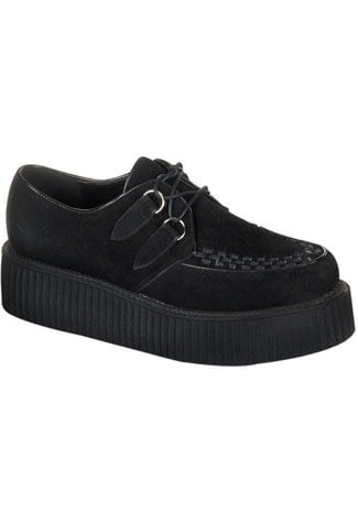 CREEPER-402S Black Suede Creepers