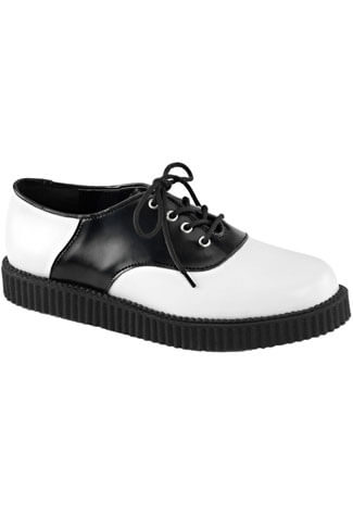 CREEPER-606 Black White Creepers