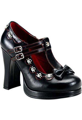 CRYPTO-06 Black Skull Heels