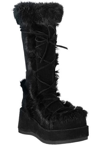 CUBBY-311 Black Suede Boots