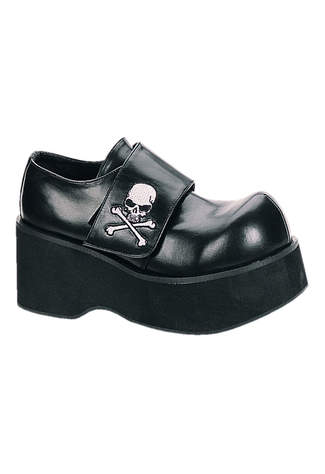 DANK-108 Black Skull Shoes - Clearance