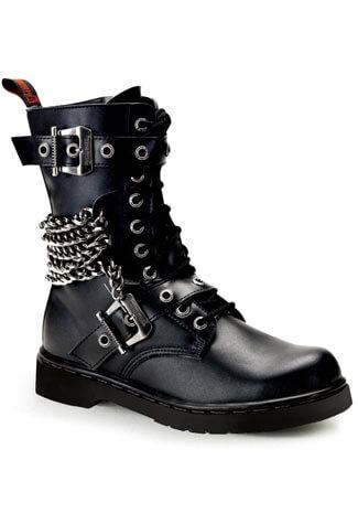 DEFIANT-204 Black Combat Boots