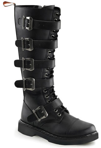 DEFIANT-420 Black Combat Boots