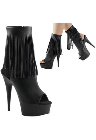 DELIGHT-1019 Black PU Boots