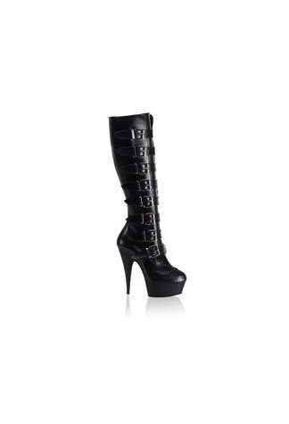 DELIGHT-2049 Black PU Boots