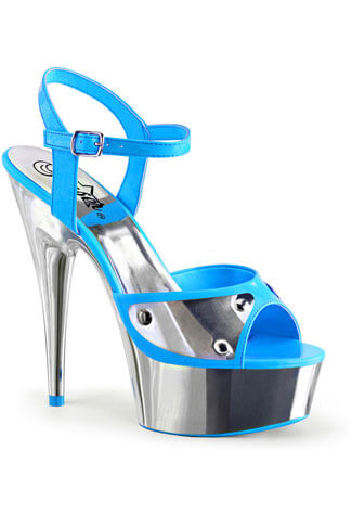 DELIGHT-609NC Cyber Blue High Heels