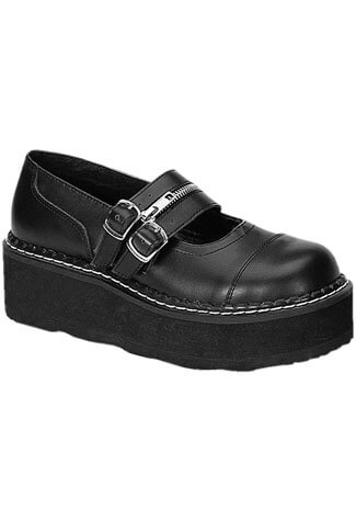 EMILY-306 Black Maryjane Shoes