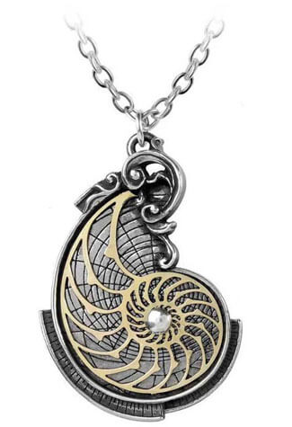 Fibonacci's Golden Spiral Pendant Necklace