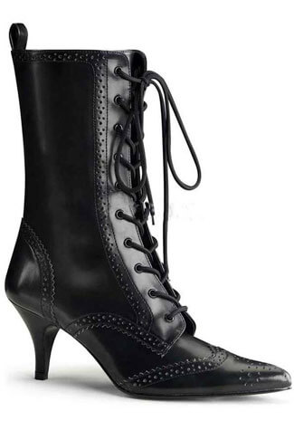 FURY-100 Black Laceup Stiletto