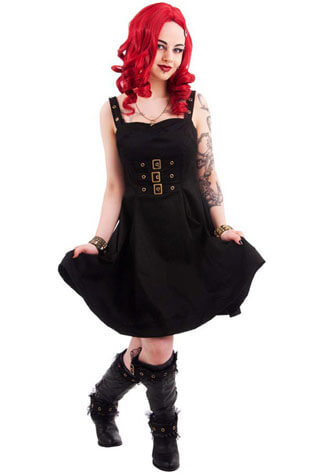 Golden Steampunk Dress - Clearance