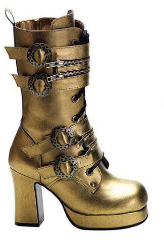 GOTHIKA-100 Bronze Steampunk Boots