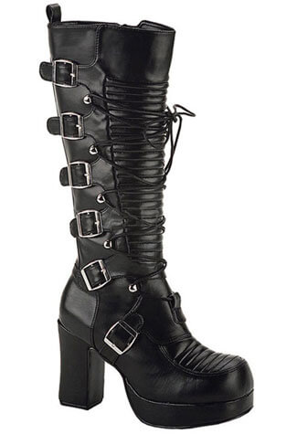 GOTHIKA-200 Black Laceup Boots