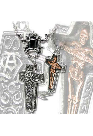 Infinity Cross Casket Necklace