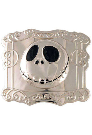 Jack Square Nickel Belt Buckle