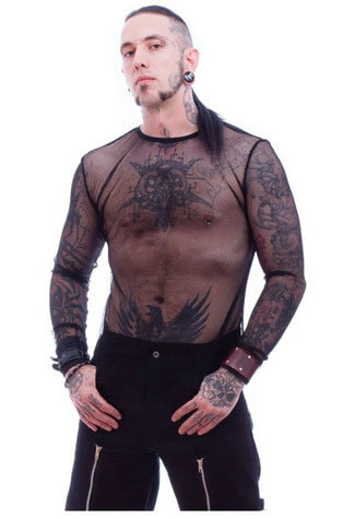 Kane Mens Fishnet Top