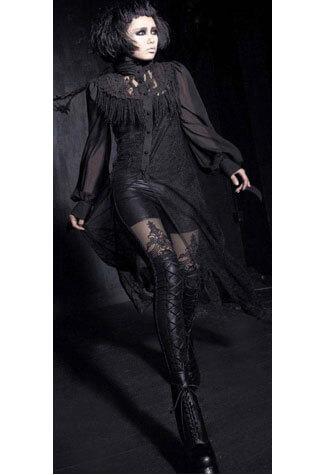 Laced Leggings Black