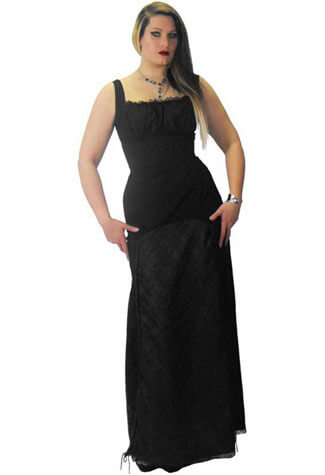 Black Long Llorna Dress - Clearance