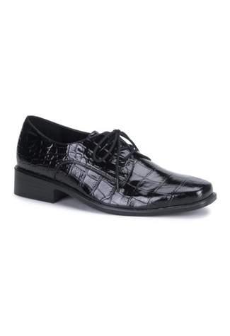 LOAFER-17 Black Alligator Shoes